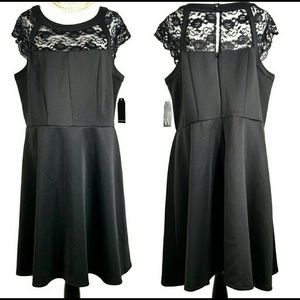 Wrapper stunning little black dress with lace